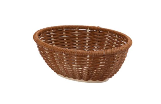 椭圆形面包篮(咖啡色)